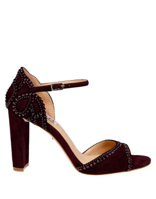 Kelly II Suede Ankle-Strap Pumps by Badgley Mischka