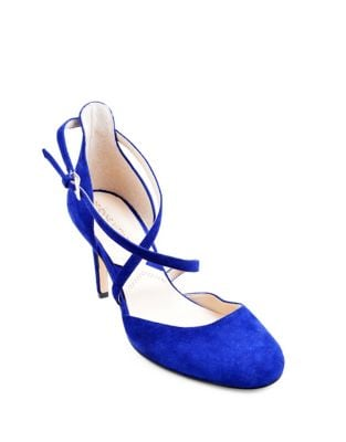 Randel Kid Suede d'Orsay Pumps by Adrienne Vittadini