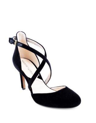 Randel Velvet Ankle Strap Pumps by Adrienne Vittadini