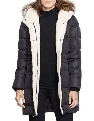 Quilted Faux Fur-Trimmed Jacket 500087380573