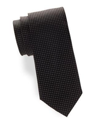 Textured Dot Silk Tie...