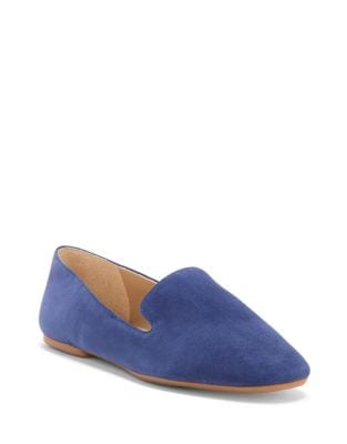 Leonie Suede Smoking Loafer by Enzo Angiolini
