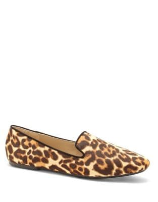 Leonie Calf Hair Smoking Loafer by Enzo Angiolini