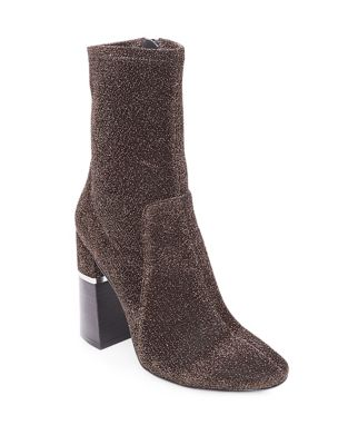 Melina Metallic Textile Booties by Design Lab Lord & Taylor