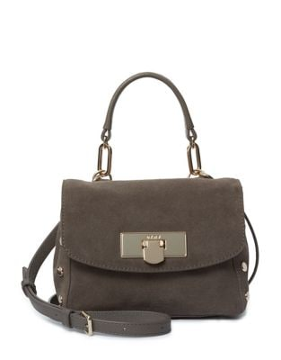 Suede Mini Satchel Bag...