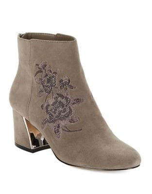 Elena Almond Toe Suede Booties by 424 Fifth