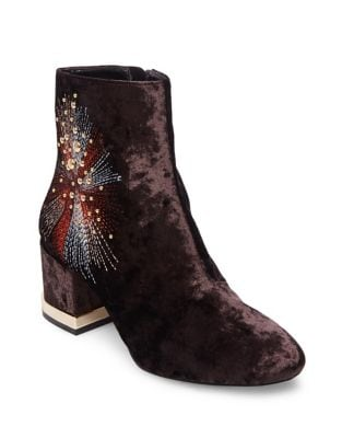 Auntie Embroidered Velvet Booties by Design Lab Lord & Taylor