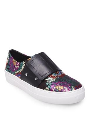 Sari Floral Satin Sneakers by Design Lab Lord & Taylor
