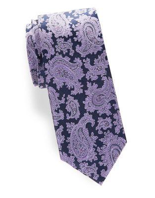 Silk Paisley Tie @...