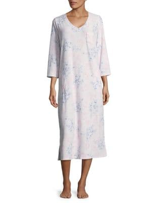 Floral Waffle Sleep Gown...