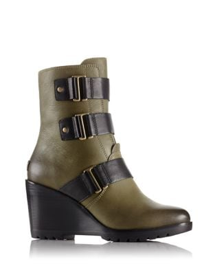 After Hours Wedge Booties by Sorel
