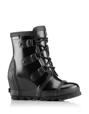 Joan Rain Wedge Gloss Rain Boots by Sorel