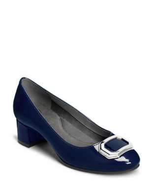 Compadre Faux Patent Leather Pumps by Aerosoles