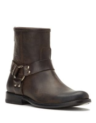 Phillip Harness Short Leather Booties by Frye