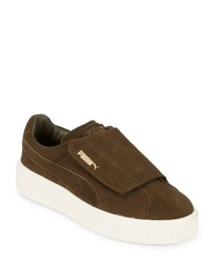 Platform Leather Sneakers by PUMA