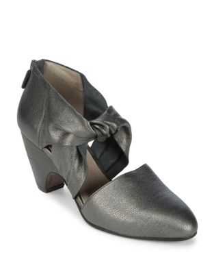 Mary Knotted Leather Pumps by Eileen Fisher