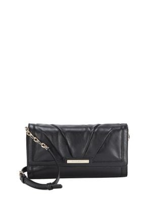 Flap Leather Clutch @...