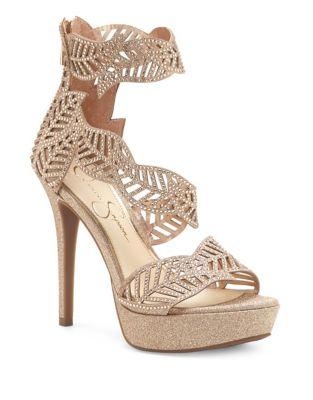 Bonilynn Metallic Platform Sandals by Jessica Simpson
