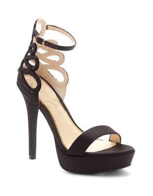 Bayvinn Satin Platform Sandals by Jessica Simpson