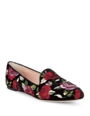 Swinton Velvet Floral Loafers by Kate Spade New York