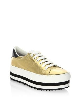 Grand Leather Platform Sneakers by Marc Jacobs