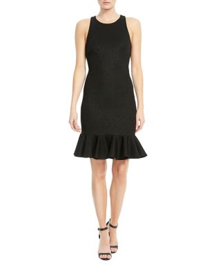 Sleeveless Shimmer Knit Dress by Halston Heritage