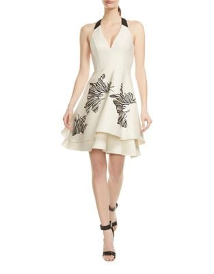 Halter Neck Tiered Dress by Halston Heritage