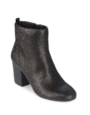 Edith Leather Booties by Karl Lagerfeld Paris
