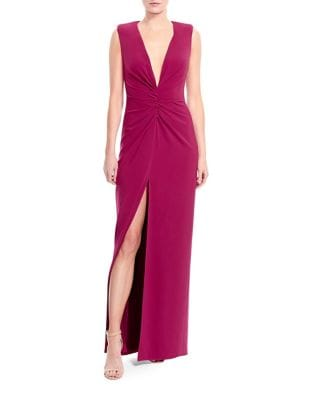 Cap Sleeve Slit Dress by Halston Heritage