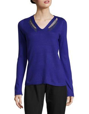 V-Neck Sweater @...