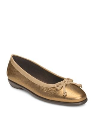 Fast Bet Classic Leather Ballet Flats by Aerosoles