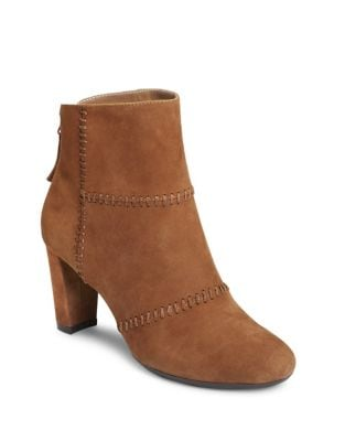First Ave Suede Booties by Aerosoles