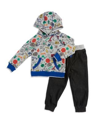 Baby Boys TwoPiece Fashion Hoodie and Pants Set
