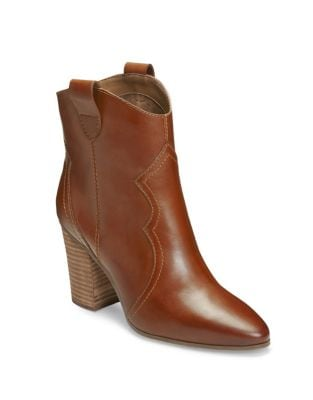 Lincoln Square Slip-On Leather Booties by Aerosoles