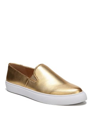 Mony Metallic Leather Slip-On Sneakers by Franco Sarto