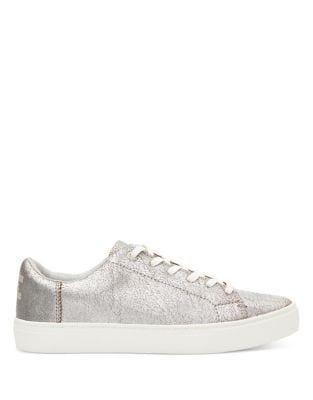 Lenox Metallic Leather Sneakers by TOMS