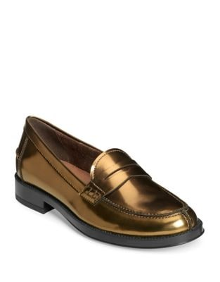 Penny Metallic Leather Loafers by Aerosoles