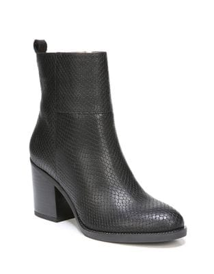 Owens Snake Print Leather Booties by Franco Sarto