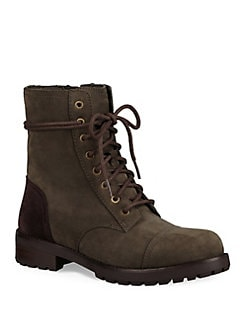UGG - Kilmer Lace-Up Leather Booties