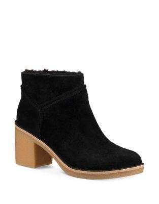 Kasen Shearling Block Heel Booties by UGG