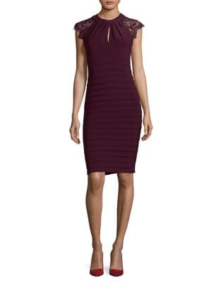 Lace Embroidered Sheath Dress by Betsy & Adam