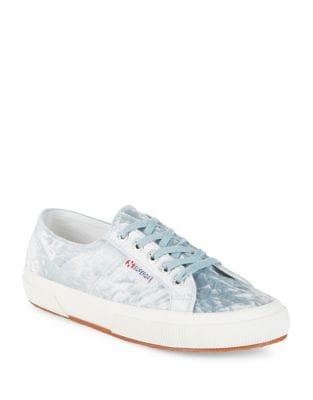 Velvet Lace-Up Sneakers by Superga