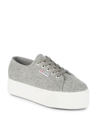 Wool Platform Sneakers by Superga