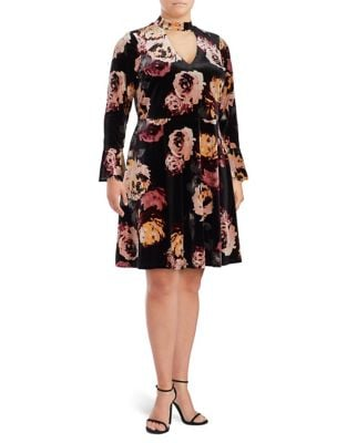 Plus Floral Bell Sleeve Dress by Ivanka Trump