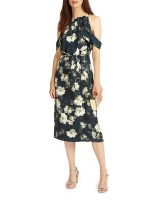 Floral Cold-Shoulder Midi Dress by Phase Eight