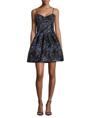 Floral Fit-&-Flare Dress by Belle Badgley Mischka