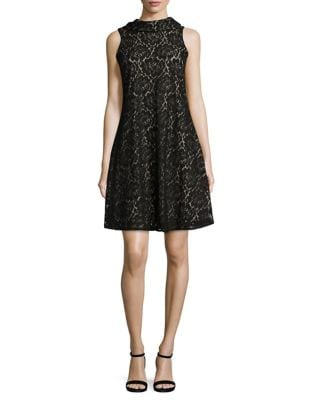 Floral Lace A-Line Dress by Taylor