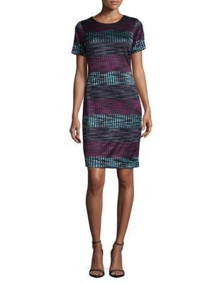 Striped Sheath Dress by Taylor