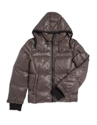 Boy's Quilted Down Coat...