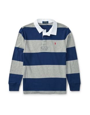 Boys Striped Cotton Jersey Rugby Shirt